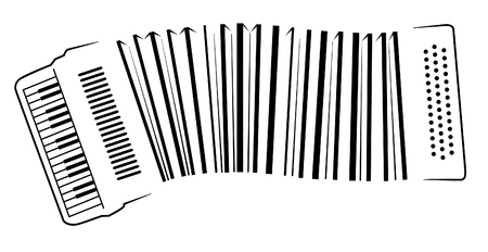 readout: musical barcode executed as an accordion Illustration
