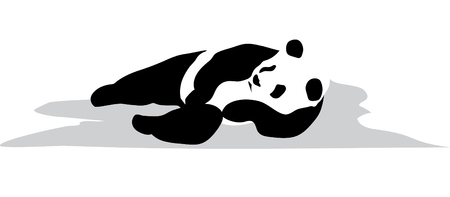 relaxed: A panda is in the relaxed pose Illustration
