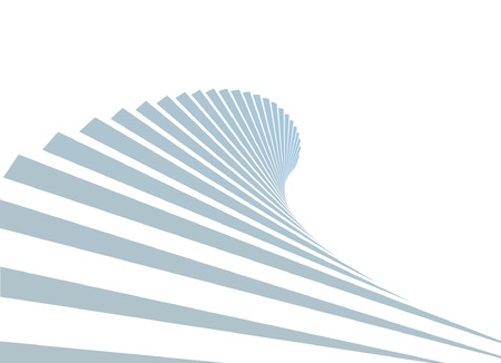 escape plan: stair as a symbol of height is in infographic on white background Illustration
