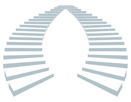 escape plan: Stair as a symbol of height is in infographic on white background