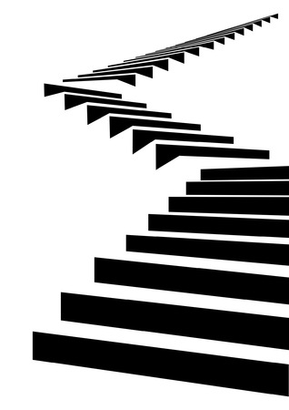 Stair as a symbol of height is in infographic on white background