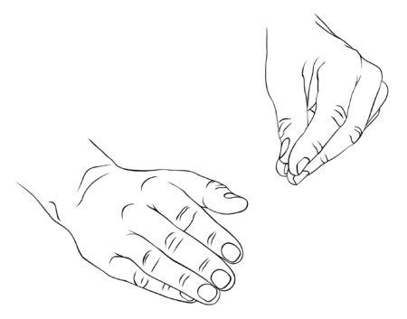 gestures: different gestures of a hands