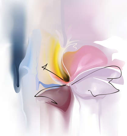 Flower executed in style of water-colour picture