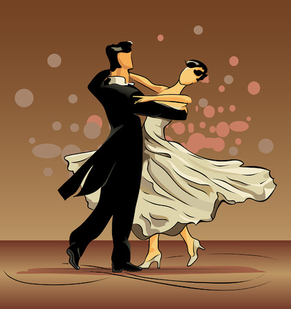 A waltz is dance of falling in love Illustration
