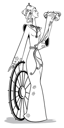 fortuna: Graphic presentations of Fortuna - of goddess of success