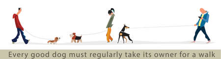dog walking: Every good dog must regularly take its owner for a walk