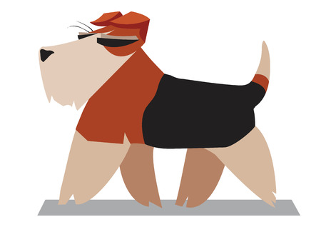 airedale terrier: Terrier minimalist image on a white background Illustration