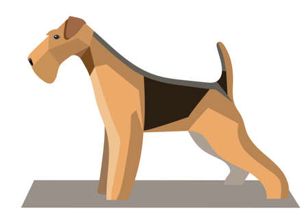 terrier: Terrier minimalist image on a white background Illustration