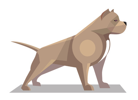 black and white pit bull: Pitbull minimalist image on a white background Illustration