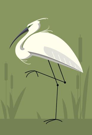 Little egret icon.