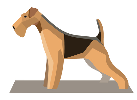 Terrier minimalist image on a white background Illustration