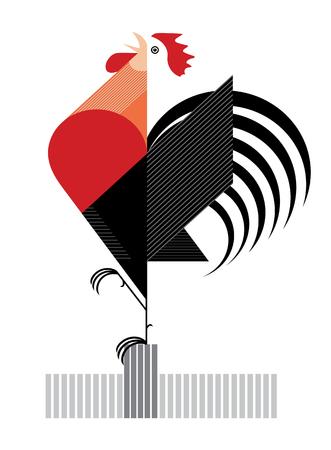 Rode Flamy Cock is een symbool van 2017 jaar
