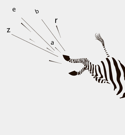 The zebra strikes with the rear hooves.