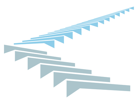 Stair in sky as a symbol of growth and development, template for infographic, financial reports and others