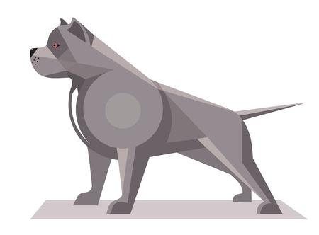 Pitbull minimalist image on a white background Illustration