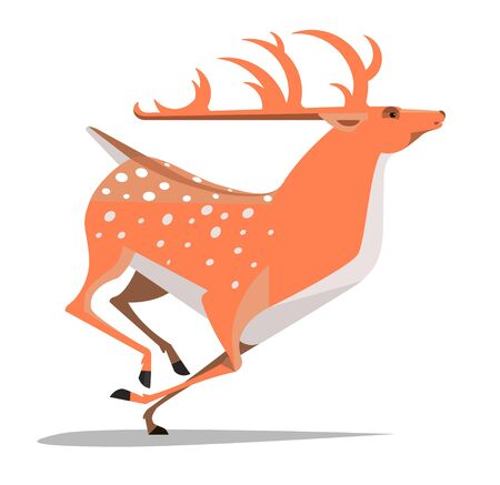 Dappled deer in rapid and graceful movement