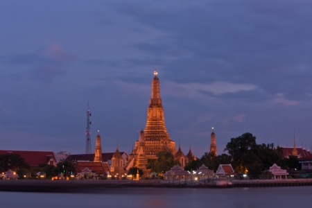 You will see a giant standing guard at the Temple of Dawn in Bangkok  A foreign tourist visit  photo
