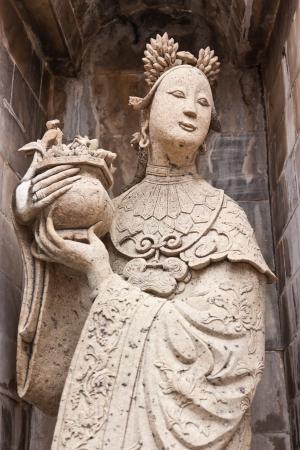 moulded: figura moldeada, los j�venes chinos, en Bangkok tailandesa templo, Foto de archivo