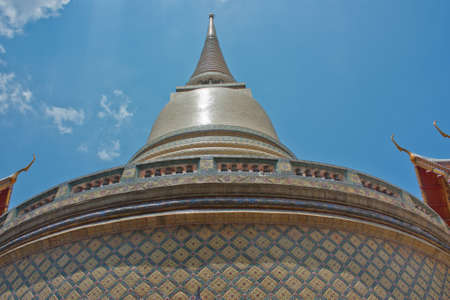 location pagoda in a temple of Bangkok ,Thailand photo