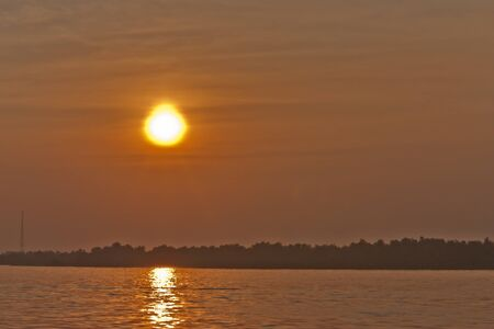 samutprakarn: estuary sunset evening Samutprakarn      Thailand