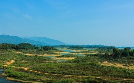 page views: Page views of the river earthen dam Thailand