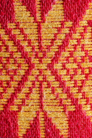 Patterns of fabric woven in the Northeast of Thailand  photo