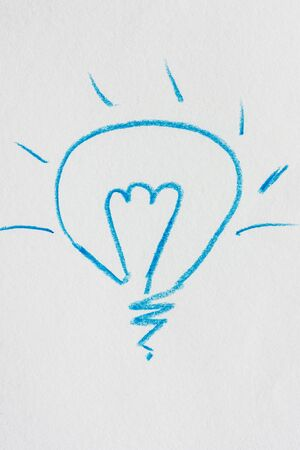 Ideas, big light bulb  photo