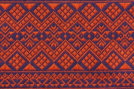 hand woven: Tessuti a mano tradizionale Lanna del nord della Thailandia
