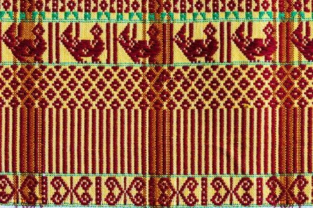 far eastern: pattern hand-woven fabrics from Thailand in the north of Thailand.