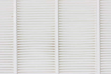 focus stacking: Air filter, white overlapping layers  Stock Photo