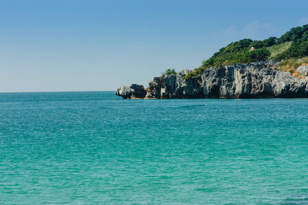 Beautiful ocean and rocks in the summer, the islands of Thailand  photo
