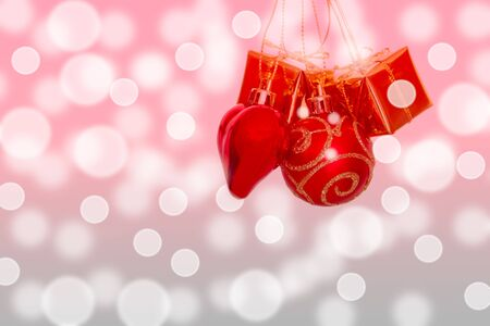 Christmas ornaments on a background bokeh  photo
