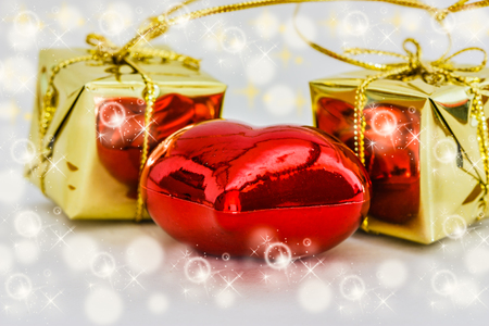 Christmas ornaments on a background photo