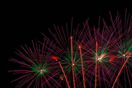 Colorful celebration fireworks on the night sky  photo