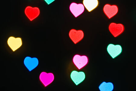 Heart defocused colorful light, beautiful background. photo