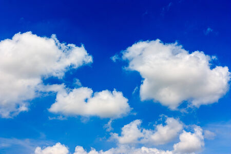 clear day: Blue sky with white clouds in a clear day. Stock Photo