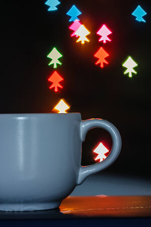 Coffee mugs with a light background  Stock Photo