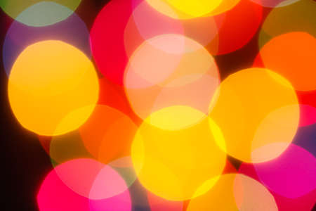The bokeh soft gold light  colorful background  photo