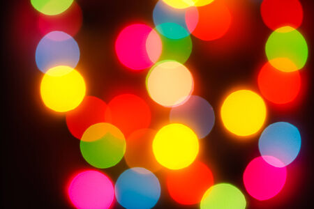 The bokeh soft light  colorful background  photo
