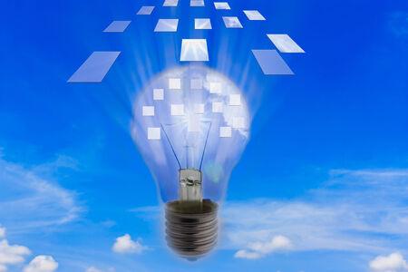 ejaculation: Light bulb with ideas ejaculation