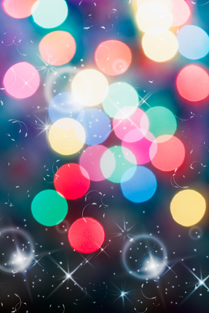 The bokeh soft light colorful background  beautiful sparkling photo