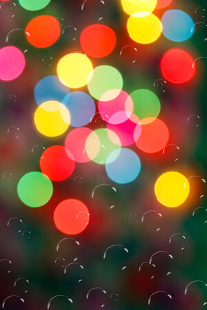 The bokeh soft  light  colorful background with bubbles photo