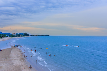 Landscape of high beach of the Gulf of Thailand