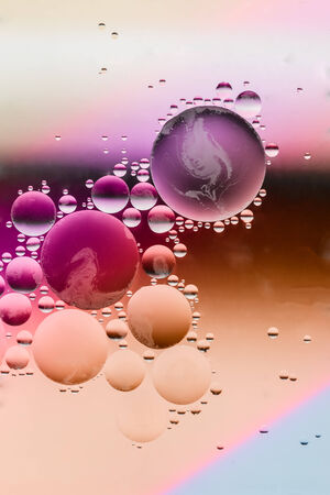 oil floating on water colorful used as backgrounds photo