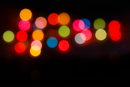Blur light colorful  on the background black photo