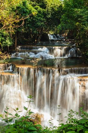Waterfall Huay Mae Kamin National Park in Kanchanaburi Province, Thailand. photo