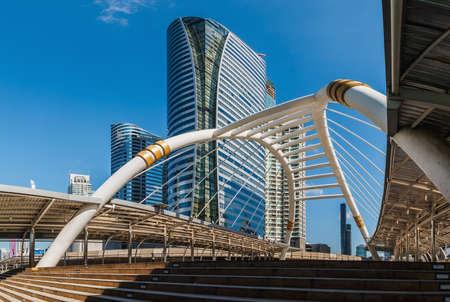panoramas: Panoramas  Building  style modern business area in city of bangkok