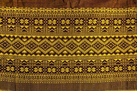 thai silk: Texture of Thai silk pattern craftsmanship background