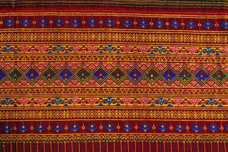 craftsmanship: Craftsmanship Textiles, folk art in Thai pattern for beautiful background