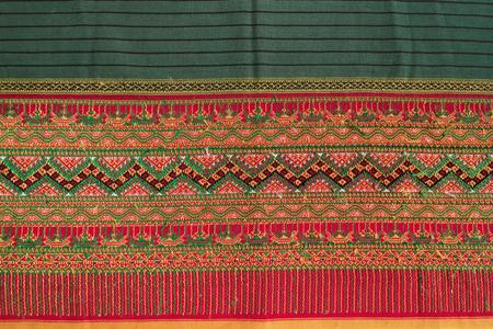 Craftsmanship Textiles silk, folk art in Thai pattern for beautiful background